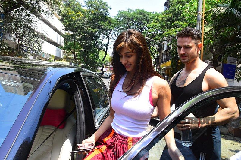 Disha Patani Sitting In Her Car