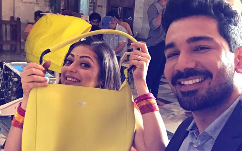 Drashti Dhami's Designer Bag Gets Ruined, Abhinav Shukla Comes To Her Rescue