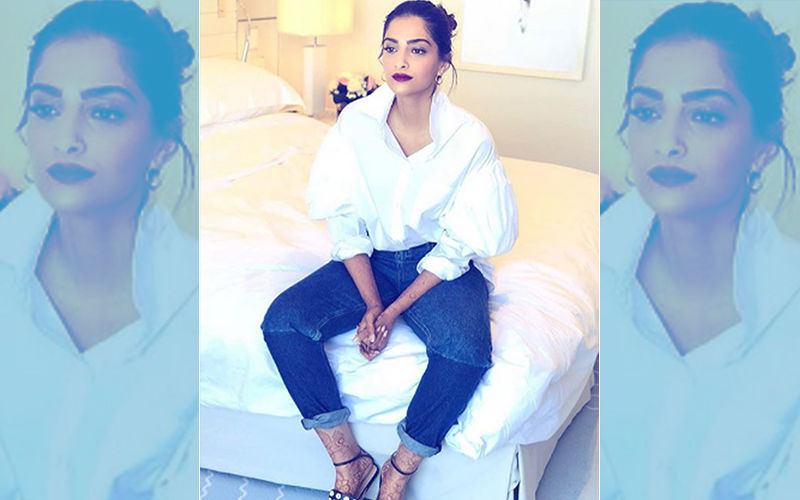 Cannes 2018: Missing Hubby? Sonam Kapoor Wears A Shirt By Anand Ahuja's Label, Bhane