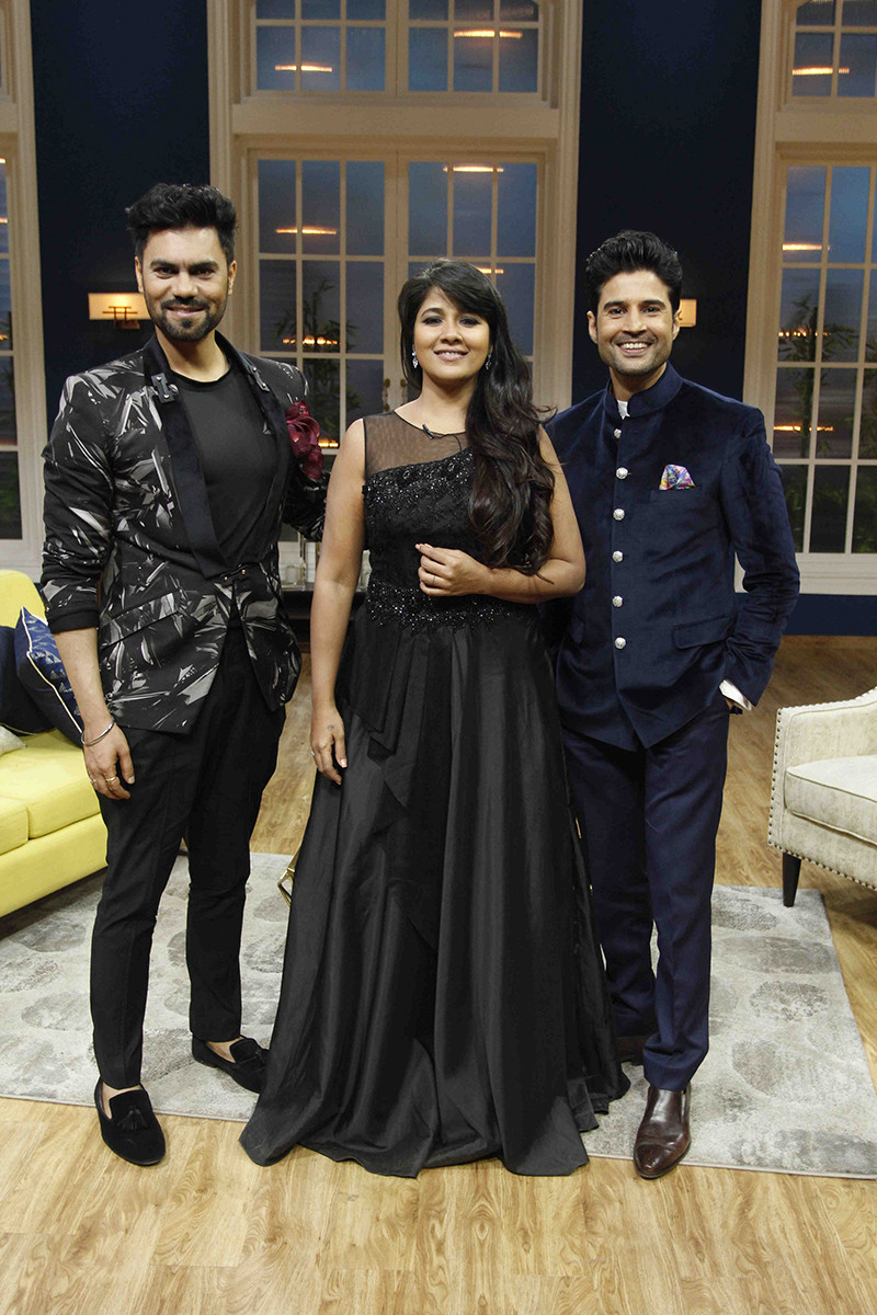 Gaurav Chopraa And Narayani Shastri On The Sets Of JuzzBaatt With Host Rajeev Khandelwal