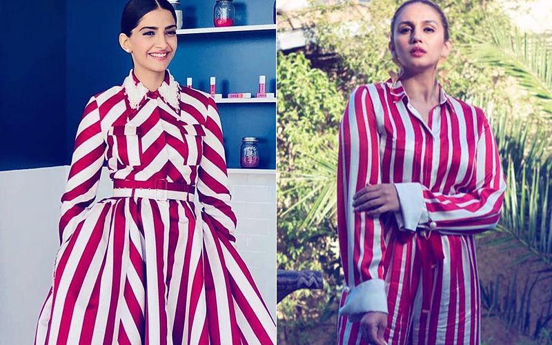 कान फिल्म फेस्टिवल में एक जैसी ड्रेस पहने नजर आई सोनम और हुमा
