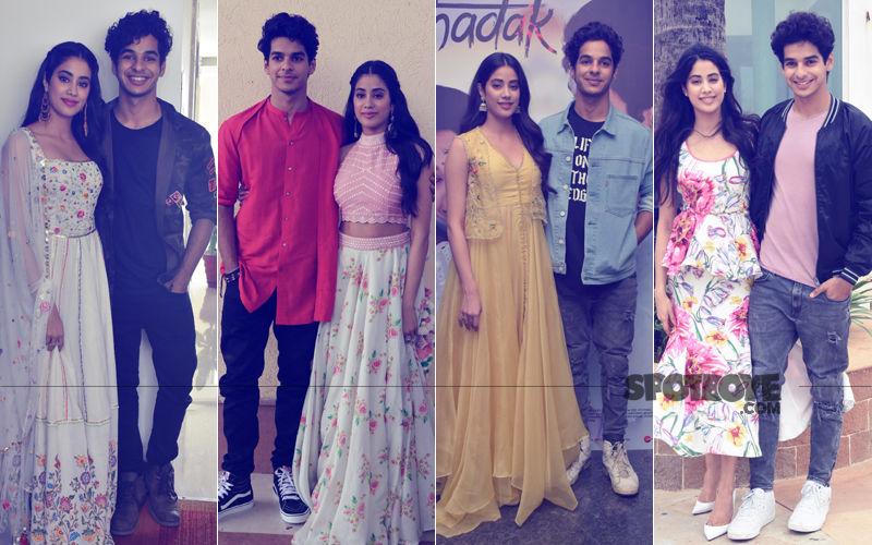 15 Pics: Janhvi Kapoor & Ishaan Khatter Paint The Town Red