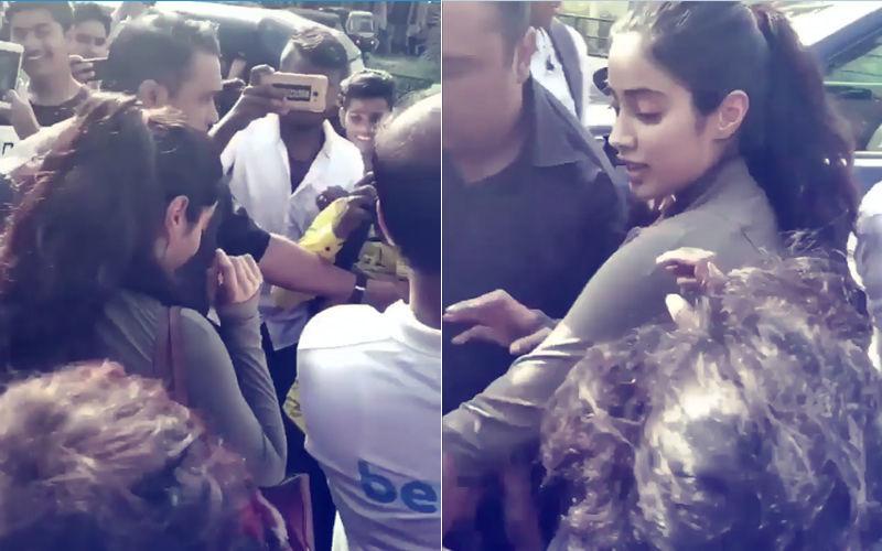 Video: जान्हवी को देख फैंस हुए बेकाबू, जैसे-तैसे पहुंची अपनी कार के अंदर