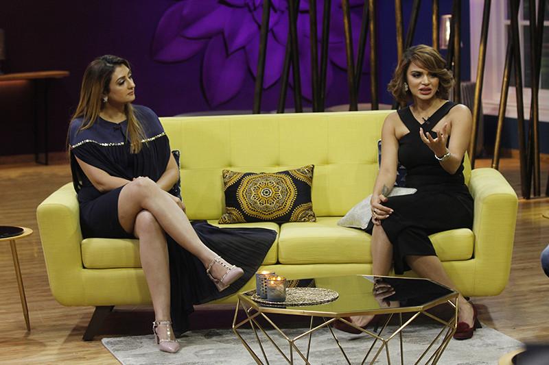 Juhi Parmar And Aashka Goradia On Sets Of JuzzBaatt