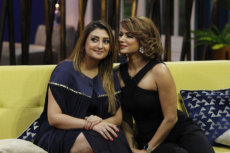 Juhi Parmar And Aashka Goradia On Sets Of JuzzBaatt