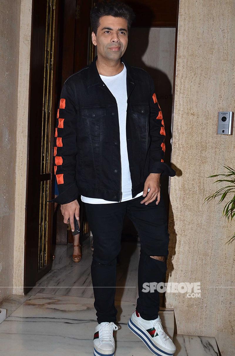 Karan Johar Snapped At Manish Malhotra House