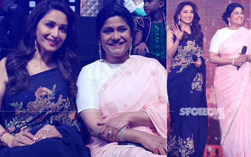 Madhuri Dixit Celebrates Birthday With Hum Aapke Hain Koun..! Co-Star Renuka Shahane, View Pics