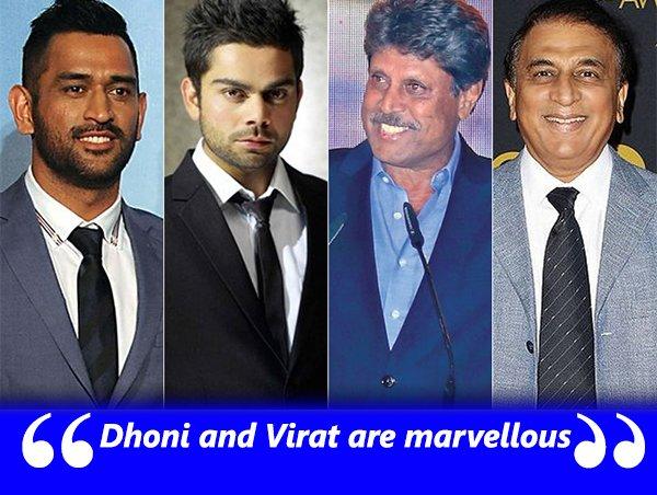 Mahendra Singh Dhoni Virat Kholi Kapil Dev And Sunil Gavaskar