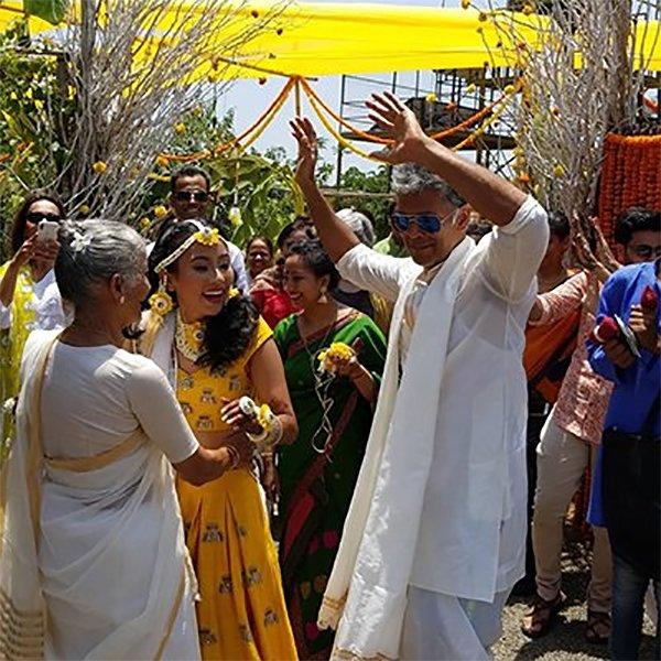 Milind Soman With Ankita Konwar At Their Haldi Ceremony