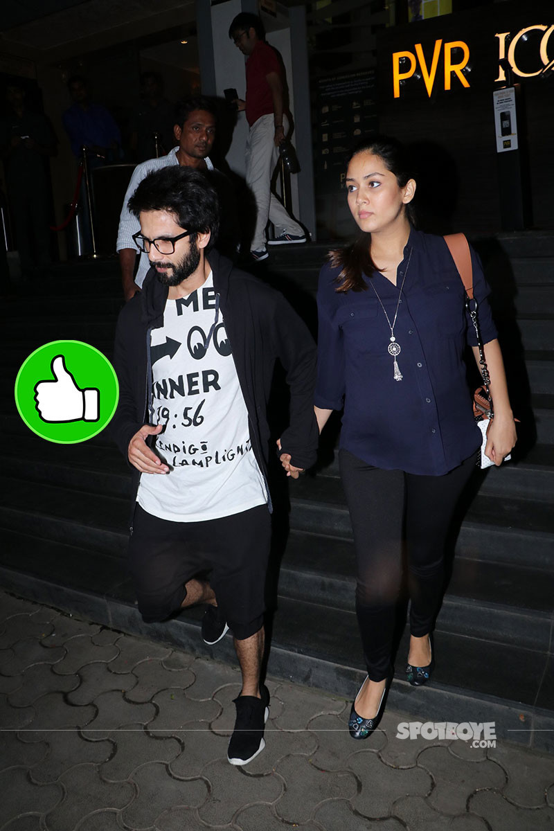 Mira Rajput And Shahid Kapoor Spotted At PVR Juhu