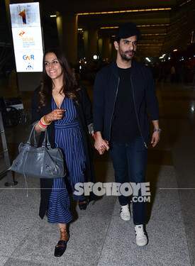 Neha Dhupia And Angad Bedi s At The Airport