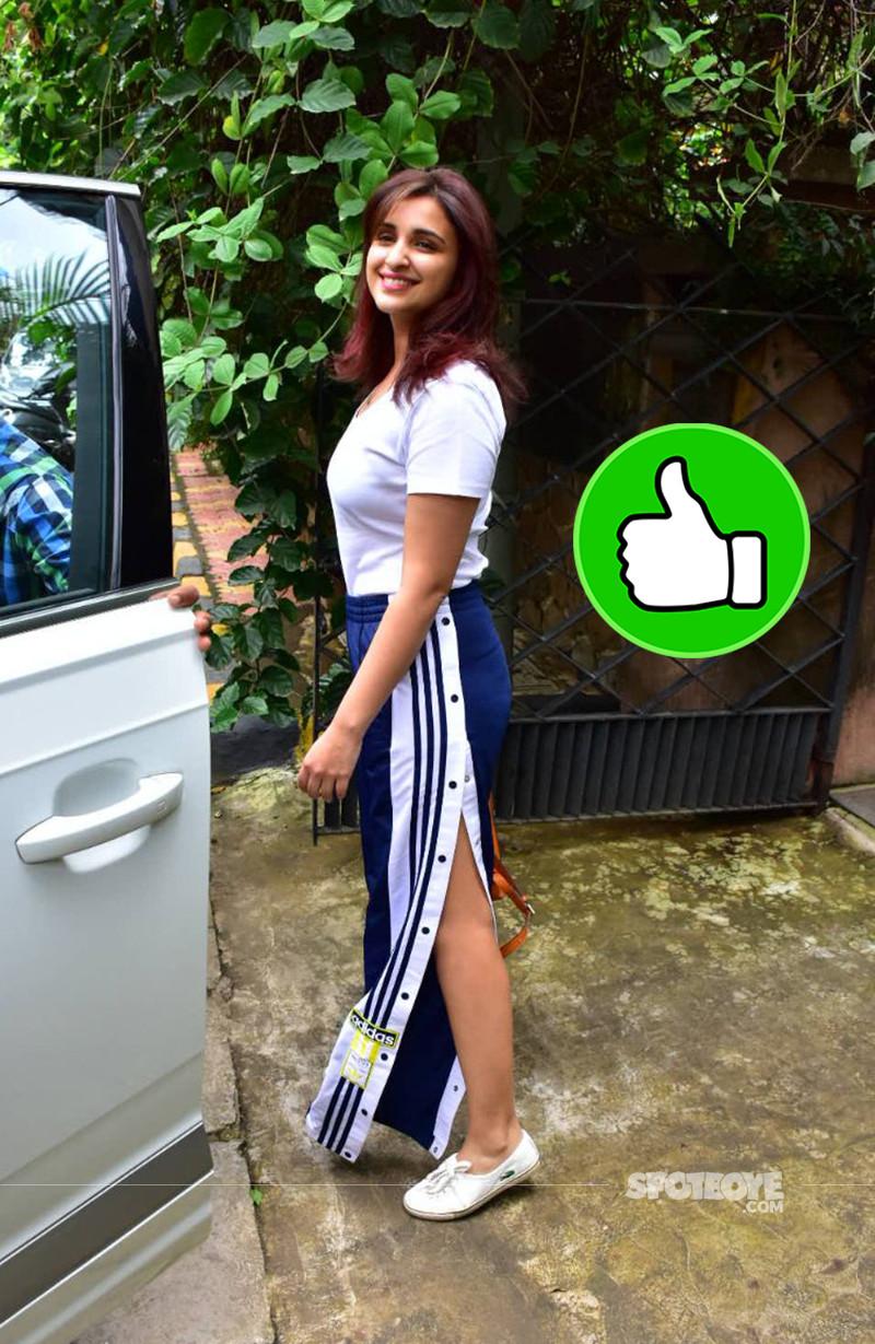Parineeti Chopra Snapped Post Salon Session