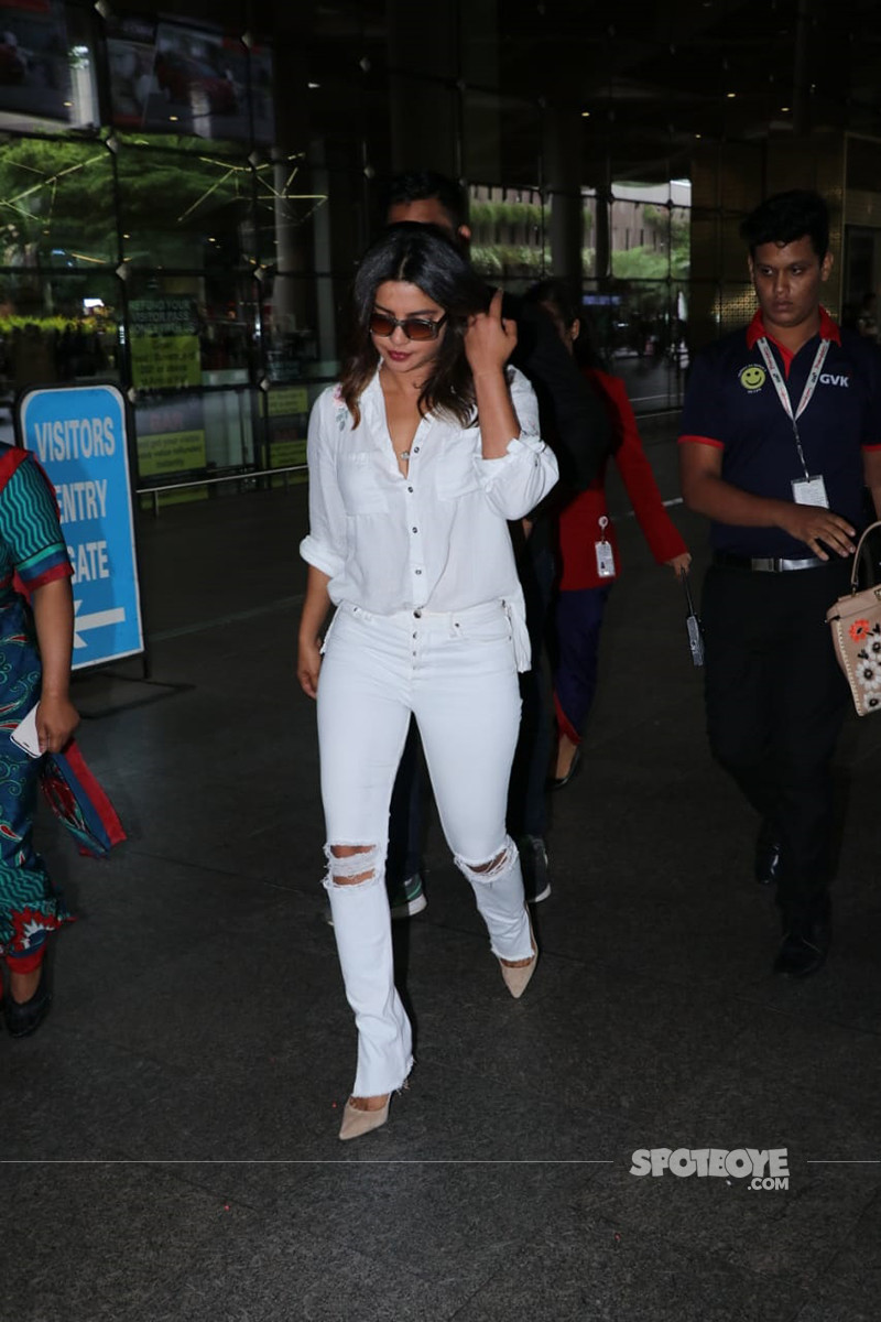 Priyanka Chopra At Mumbai Airport 1