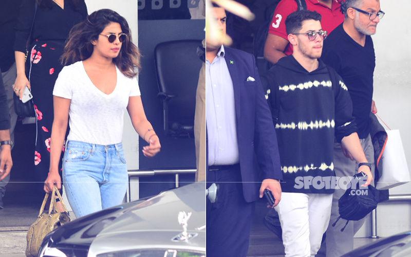 Rejuvenated Priyanka Chopra & Beau Nick Jonas Return To Mumbai