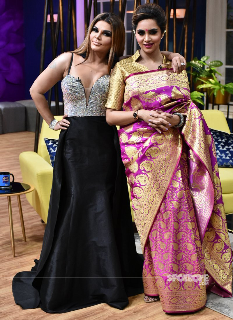 Rakhi Sawant and Arshi Khan On Zee TVs Chat Show JuzzBaatt