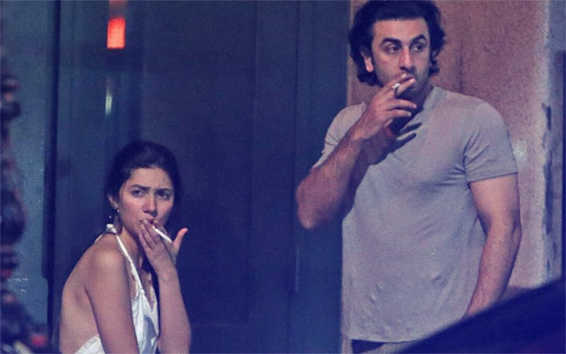 Ranbir Kapoor And Mahira Khan Snapped Smoking