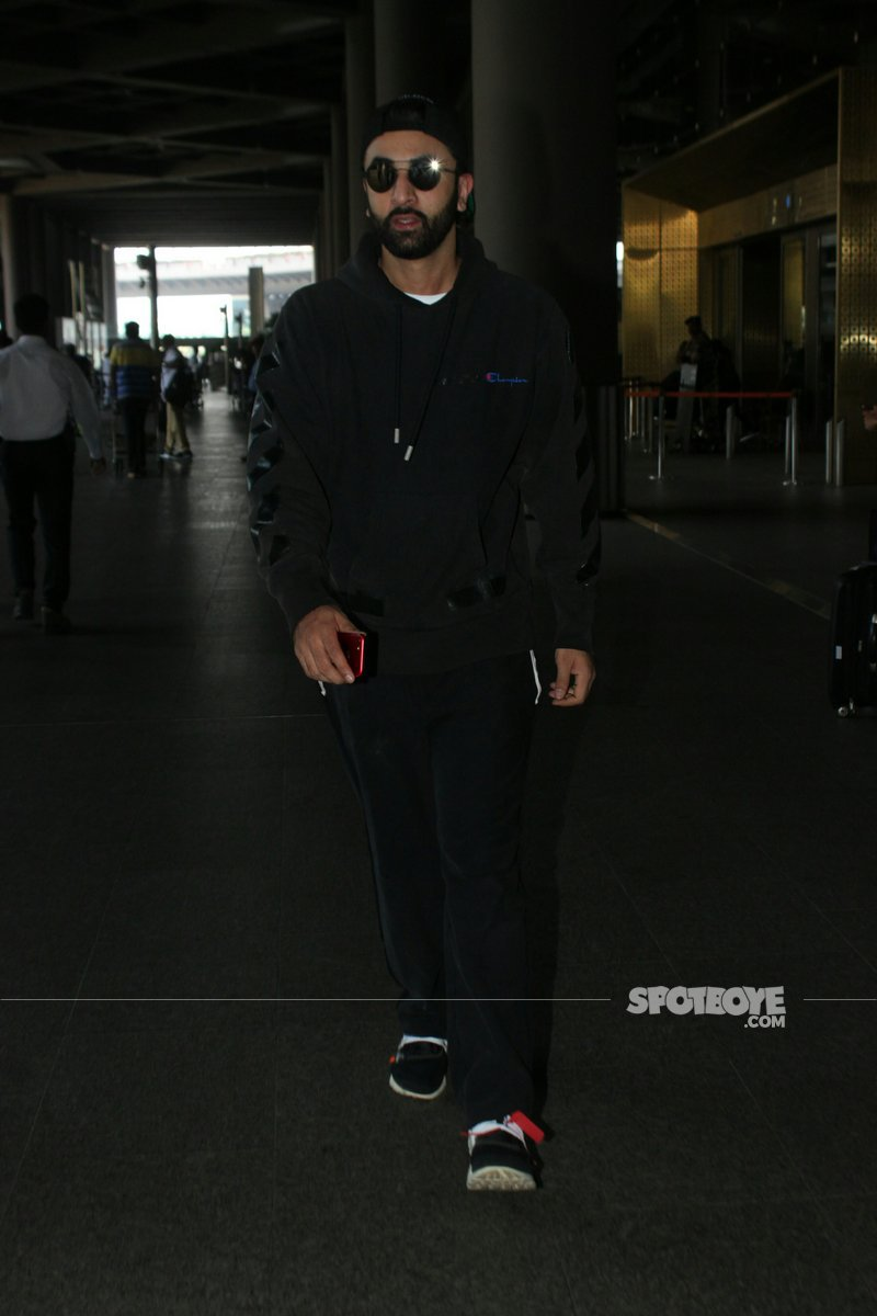 Ranbir Kapoor At The Airport