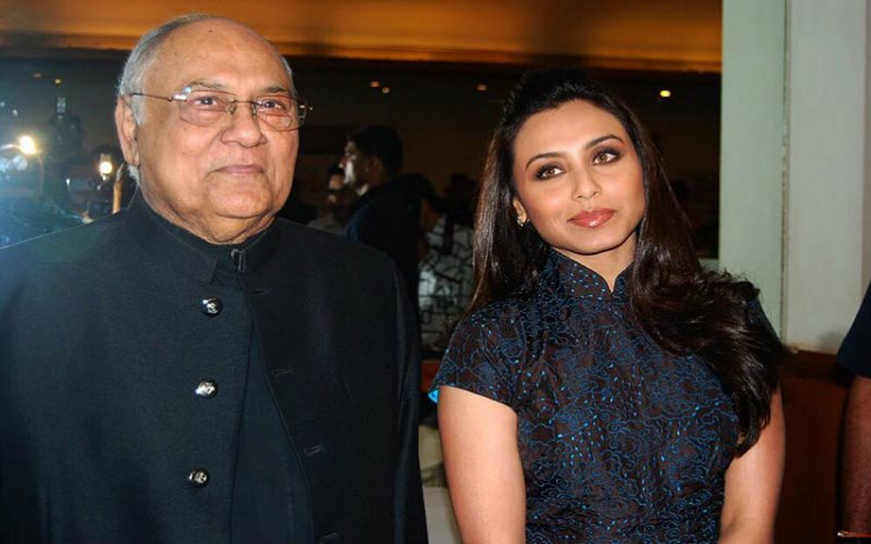 Rani Mukerjee with her father