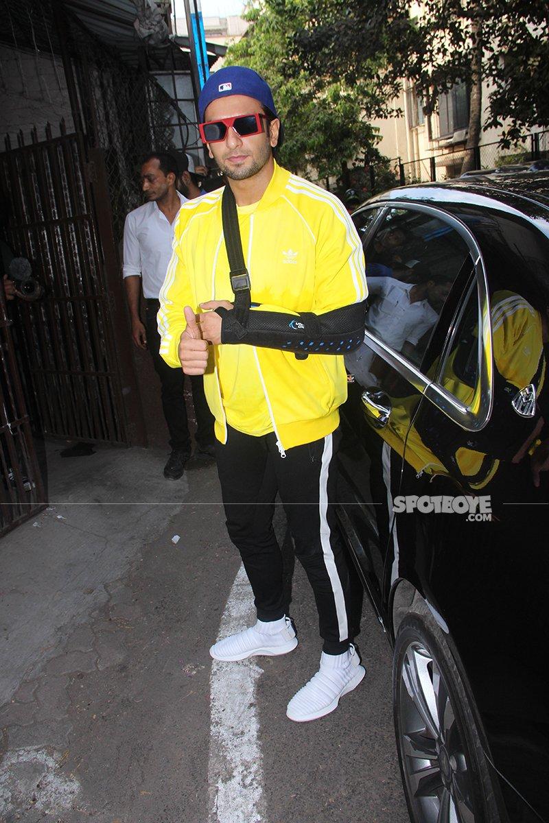 Ranveer Singh Injured His Arm Recently