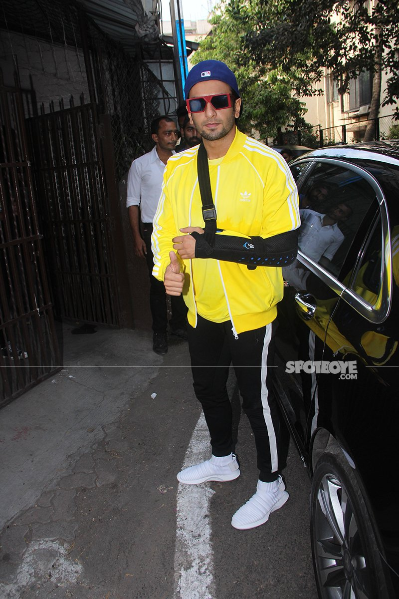 Ranveer Singh Spotted Outside Dubbing Studio