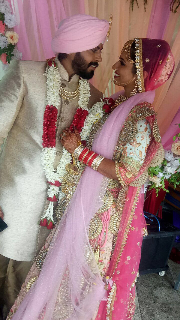 Ridheema Tiwari And Jaskaran Singh Tie The Knot