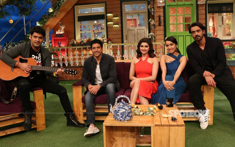 Rock On 2 Rocked The Kapil Sharma Show, Here Are The Pictures