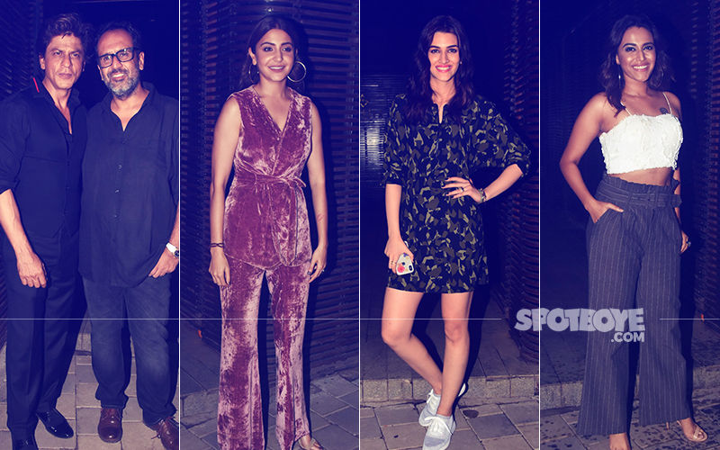 Meet The Stars - SRK, Anushka, Kriti, Swara - At Aanand L Rai's Gala Birthday