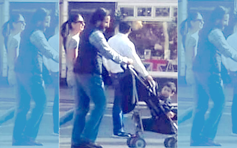 Curious Taimur Looks Around As Kareena & Saif Take Him For A Stroll