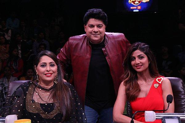 sajid khan on sets of super dancer2
