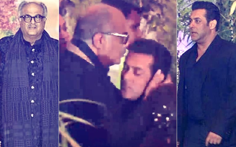 Sonam Kapoor Reception: Boney Kapoor Lovingly Kisses Salman Khan's Forehead