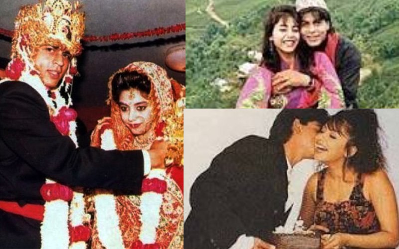 25th WEDDING ANNIVERSARY Shah Rukh Khan And Gauri Khans Rare Old Pictures