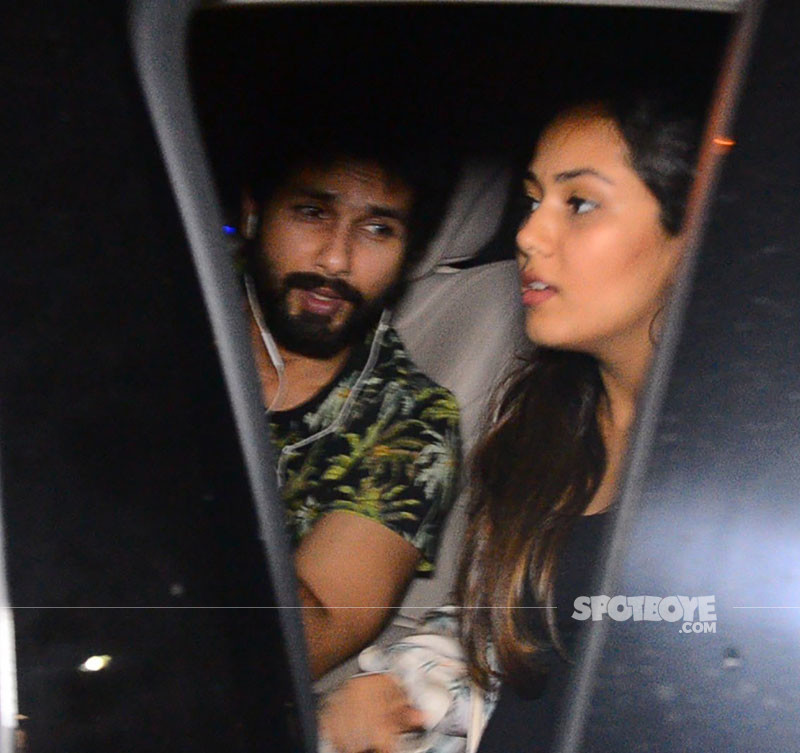 Shahid Kapoor And Mira Rajput Snapped Post Lunch