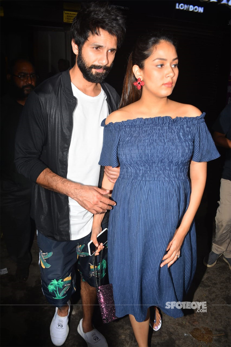 Shahid Kapoor And Mira Rajput Spotted Outside A Restaurant