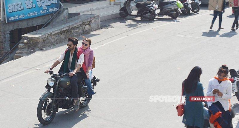 Shahid Kapoor Riding A Bike
