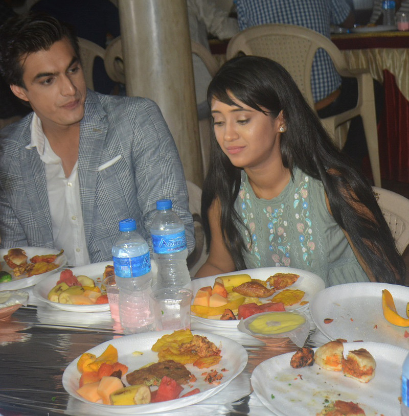 Shivangi Joshi And Mohsin Khan Together Having Lunch