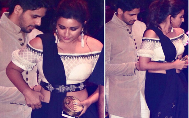 Ambani Engagement Party: Sidharth Malhotra Helps Fix Parineeti Chopra's Saree. Adorable!