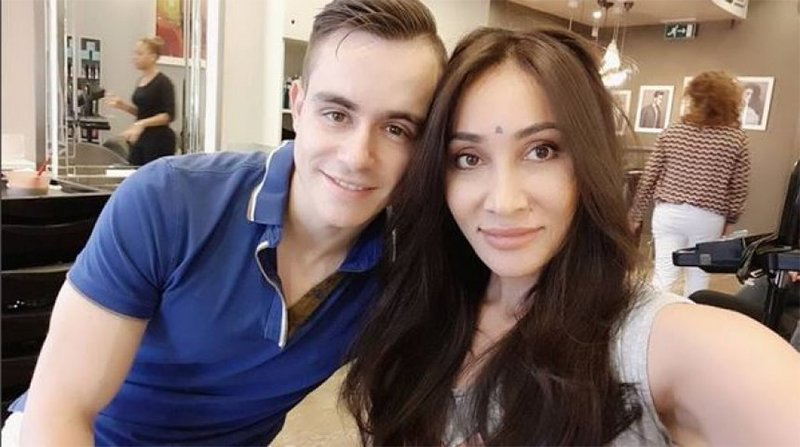 Sofia Hayat With Husband Vlad