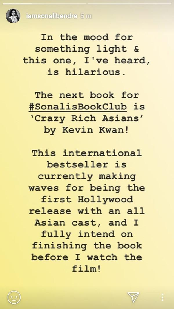 Sonali Bendre Instagram Story