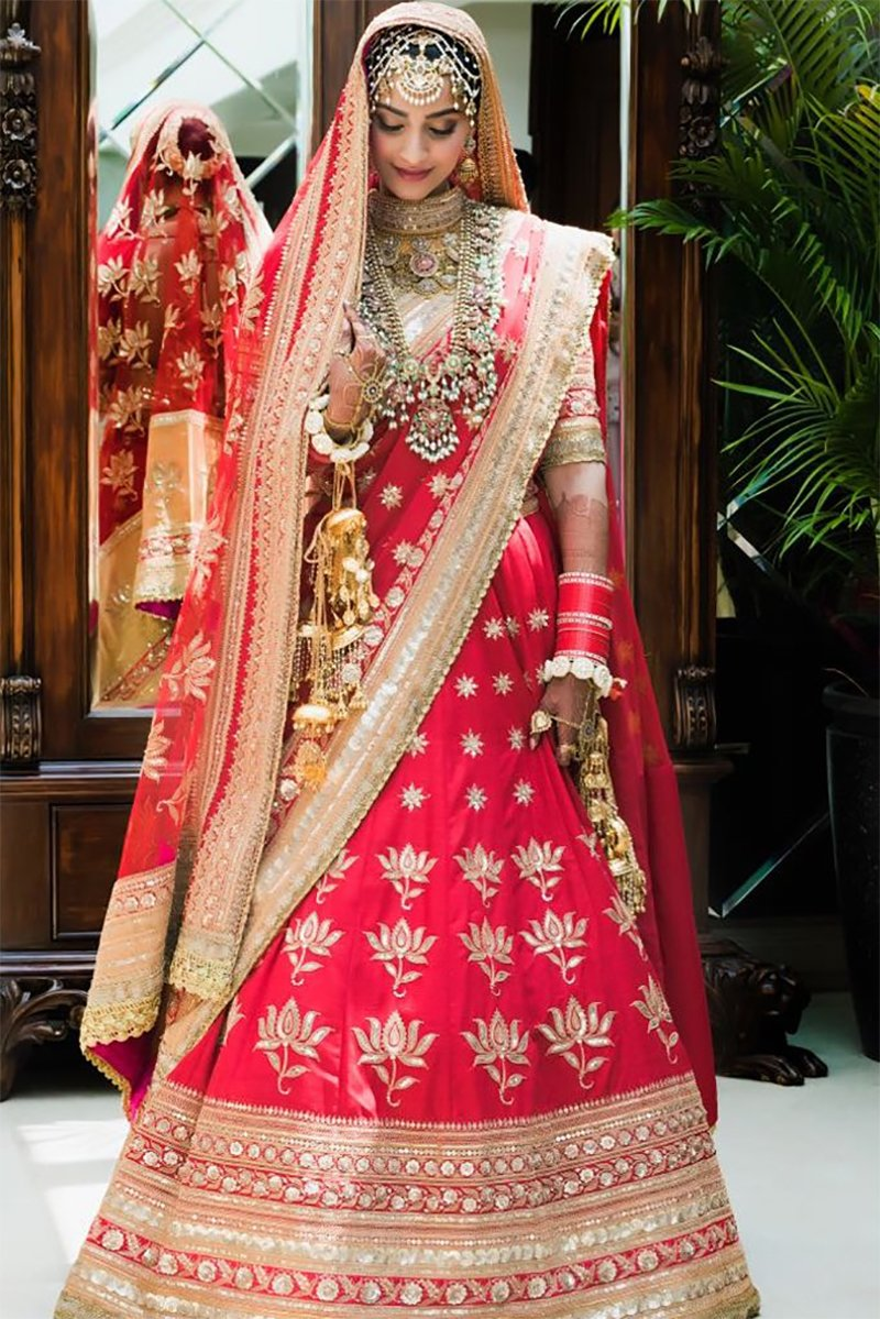 Sonam Kapoor In Her Wedding Attire