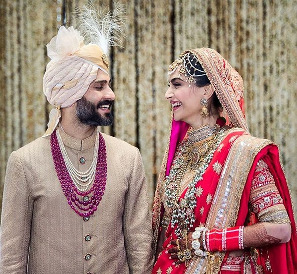 Sonam Kapoor With Anand Ahuja At Their Wedding