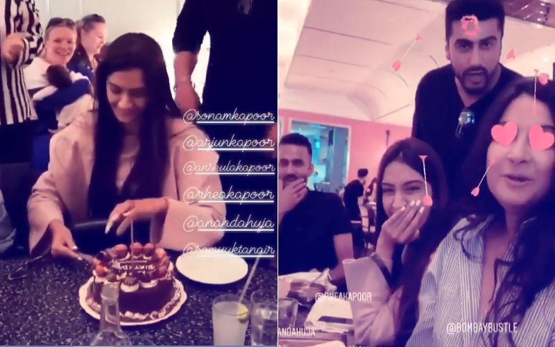 Inside Videos: Sonam Kapoor Celebrates Her Birthday With Anand, Arjun & Rhea