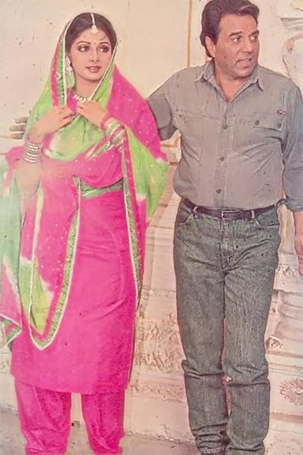 Sridevi And Dharmendra