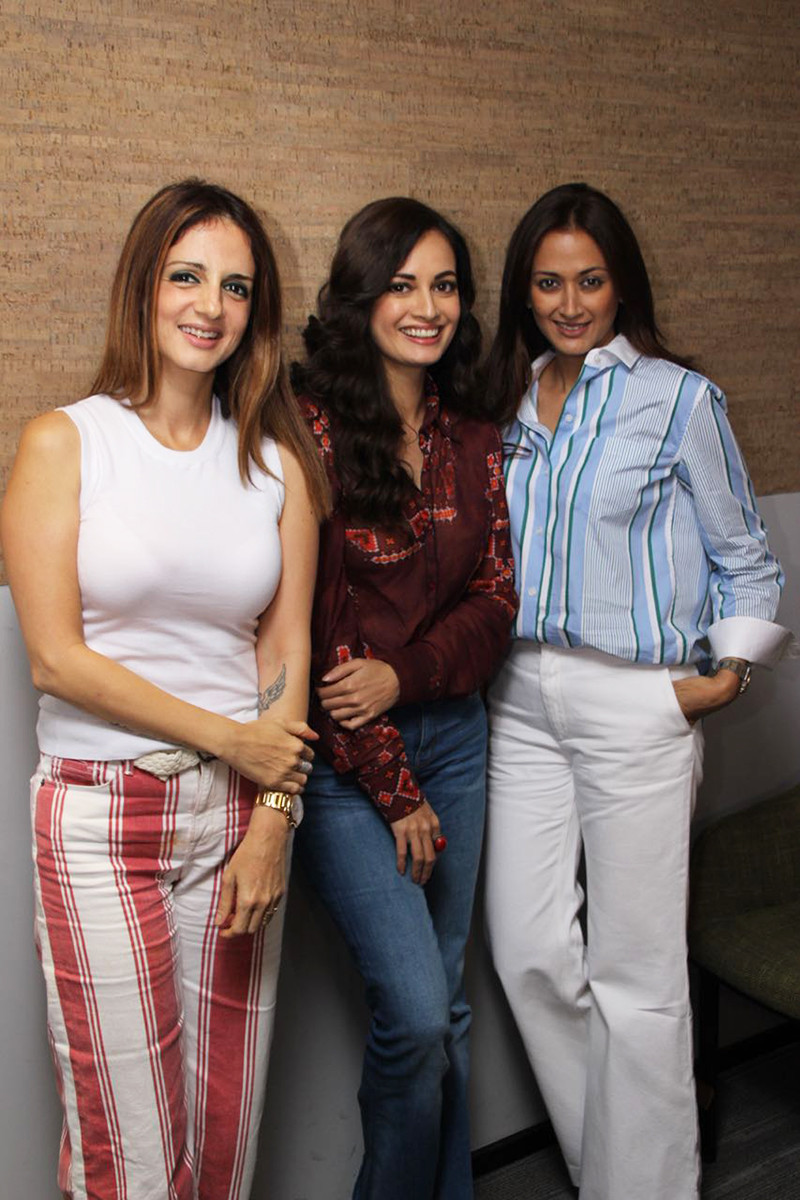 Sussanne Khan And Dia Mirza With Gayatri Oberoi
