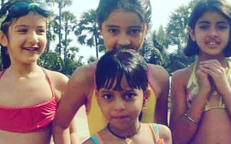 Throwback Thursday: Suhana Enjoys A Dip In The Pool With BFFs Shanaya, Ananya & Navya
