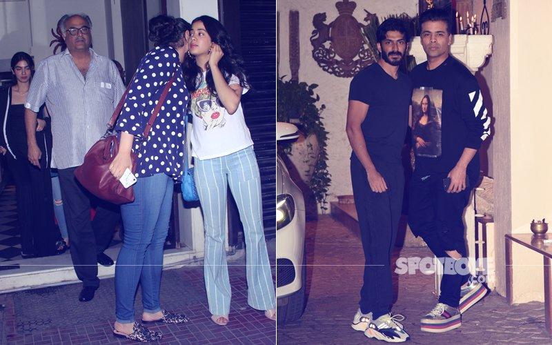 PICS: Boney Takes His Daughters - Janhvi, Khushi & Anshula For Dinner; Karan Johar Visits Anil Kapoor's House