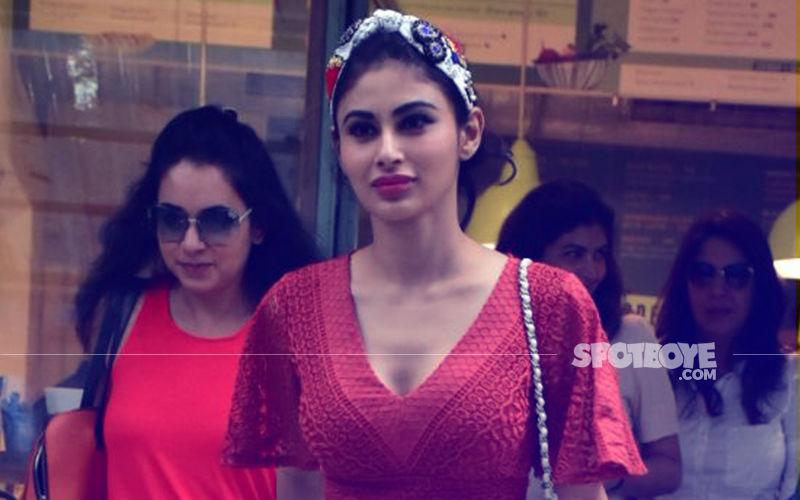 Bandra Diaries: Mouni Roy Makes A Red Hot Appearance At A Lunch Date