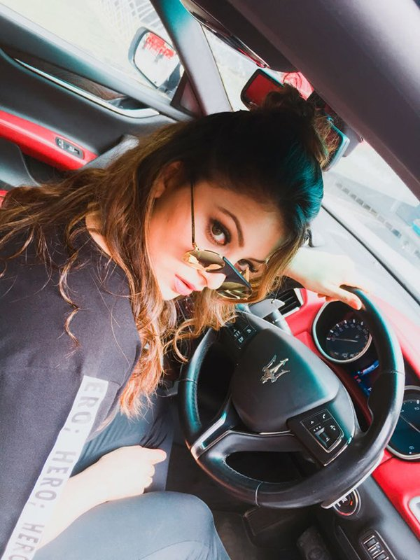Urvashi Rautela Driving Maserati Ghibli
