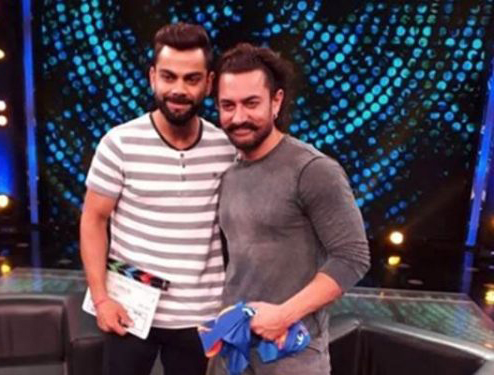 Virat Kohli And Aamir Khan On A Chat Show
