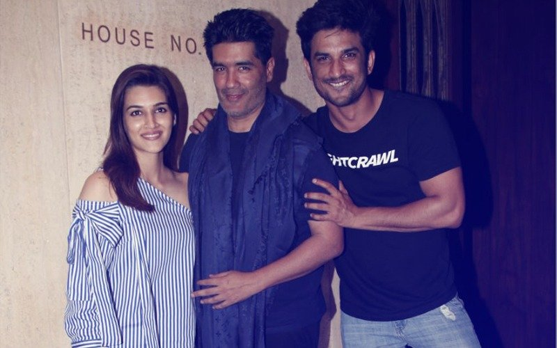 Video: Sushant Singh Rajput & Kriti Sanon Meet Manish Malhotra, Leave In The Same Car