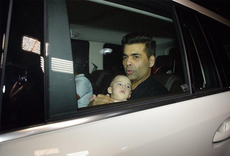 Yash and Roohi give papa Karan Johar company